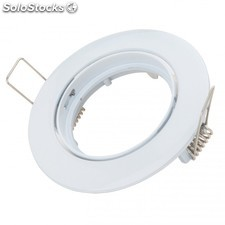Aro Empotrable Led Basculante Circular Aluminio Color Blanco 93mm