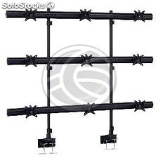 Articulated support 9 monitors VESA75 VESA100-063 3x3 LCD monitors outstanding