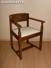 Arts & Crafts Armchair inspired by projects of C.R. Mackintosh