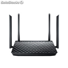 Asus rt-ac1200g+ dual-band (2.4 ghz / 5 ghz) gigabit ethernet negro router