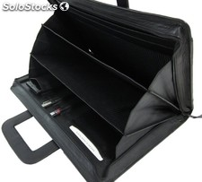 Attache Bag Black Cowhide Nappa