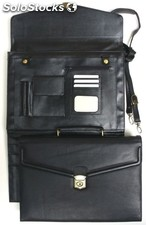 Attache Case, Black Cowhide Nappa