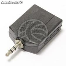 Audio adapter 1 x stereo minijack-3.5-Male to 2 x 6.3mm-jack-female (AY40)