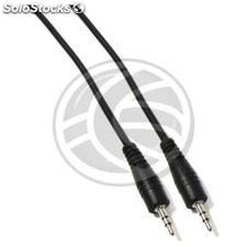 Audio cable 2.5 mm male stereo male 3 m (TW02)