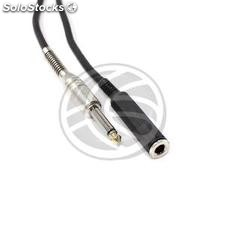 Audio Cable 6.3mm microphone jack mono instrument Male to Female 2m (AX72-0002)
