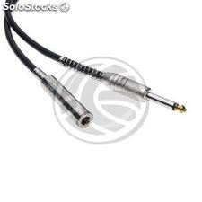 Audio Cable 6.3mm microphone jack mono instrument Male to Female 5m (AX74-0002)