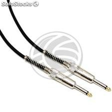 Audio Cable 6.3mm microphone jack mono instrument Male to Male 1m (AX61-0002)