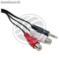 Audio Cable Stereo mini jack 3.5-M-H 2xRCA 10m (VA04)