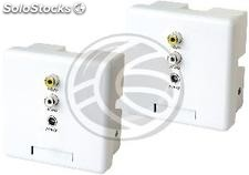 Audio Video Extender UTP Cat.5 powered transmitter and receiver wall CW02AP