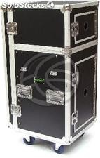 Audio visual portable rack case with two modules 19 inch RackMatic (MC81)