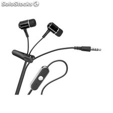auricolari con microfono integrato iphone jack 3,5 mm neri 42283