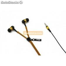 auricolari in-ear tipo zip arancioni 10426