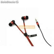 auricolari in-ear tipo zip rossi 10428