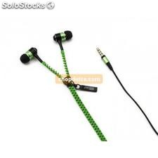 auricolari in-ear tipo zip verdi 10426