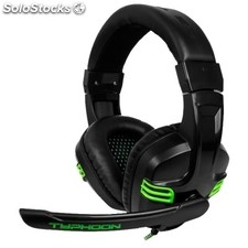 Auricular b-move bg-AUD08 gaming pc/PS4/xbox one + micrófono negro/verde