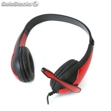 Auricular con micro OMEGA FH4008R Freestyle casco + micro PC Gaming rojo