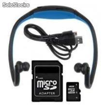 Auricular con MP3 Sport + Micro Sd Card 4gb