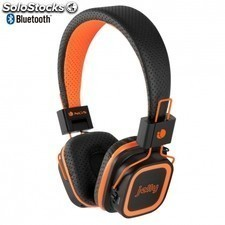 Auricular diadema NGS orange jelly - estereo - microfono integrado -