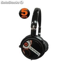 Auricular sunstech 5 m cable