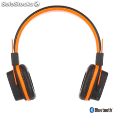 Auriculares con micrófono ngs orange artica jelly bluetooth