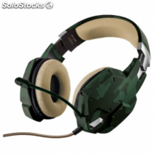 Auriculares con microfono trust gaming gxt 322c verde camuflaje -