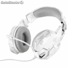 Auriculares con microfono trust gaming gxt 322w blanco camuflaje -