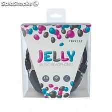Auriculares forever jelly negro