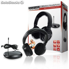 Auriculares inalámbricos 863 MHz König para TV, CD, PC, MP3, radio