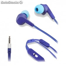 Auriculares intrauditivos muvit - microfono integrado - cable plano - 3.5MM -