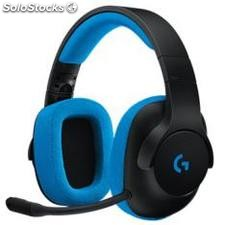 ✅ auriculares logitech G233 prodigy gamming negro/cian