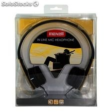 Auriculares Maxell M410 HP-MIC Amarillo