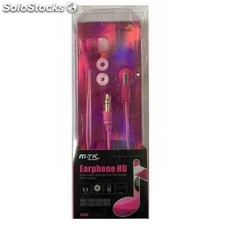 Auriculares mtk earphone hd rosa