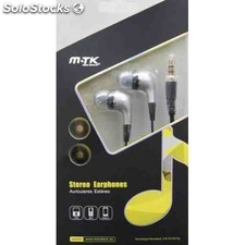 Auriculares mtk earphone plata