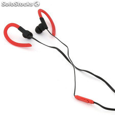 Auriculares Omega sport FH1014RB rojo-negro + micro