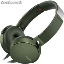 Auriculares sony mdr-XB550AP extra bass verde