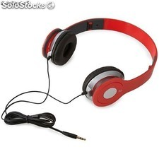 Auriculares stereo rojos