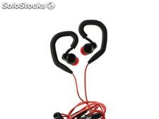 Auriculares Universales Stereo Headset Sport Deportivos SP80 3.5mm - Negro Rojo
