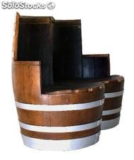Aurora Double Barrel Chair