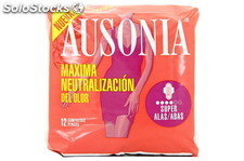Ausonia Compresa Super Alas 12und. Ausonia