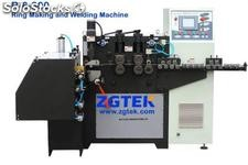 Automatic ring making machine for filter cage