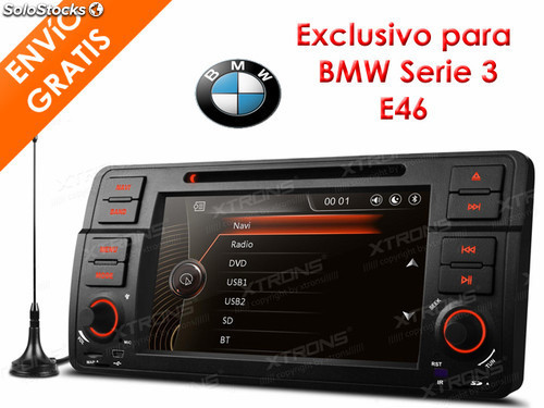 autoradio 2 din 7 para bmw e46 serie 3 con antena tdt 3g. Black Bedroom Furniture Sets. Home Design Ideas