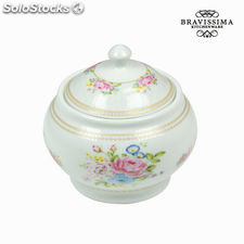Azucarero bouquet blanco - Colección Kitchen's Deco by Bravissima Kitchen