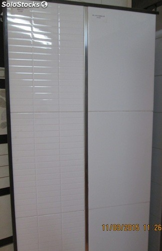 Azulejo pared blanco brillo 31x45 1a + Gres mosaico blanco 31x45 1a