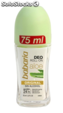 Babaria: desodorante roll-on original aloe 75ml