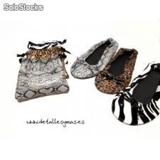 Bailarinas enrollables Animal Print