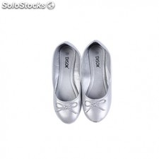 "Bailarinas manoletinas ""wedding"" talla-m plata"