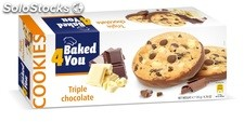BAKED4YOU 135g Triple Chocolate Cookies