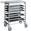 Bakery tray rack trolley - mod. ca1493 - entirely made form stainless steel -