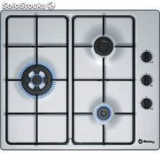 Balay 3ETX463MB placa gas inox 3 fuegos 60CM