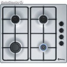 Balay 3ETX464MB placa gas inox 4 fuegos 60CM